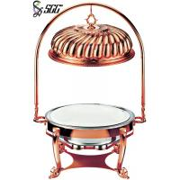 Buy cheap Luxury Rose Gold Plated Indian Style Metal Chafing Dishes With Cover Hanger from Wholesalers