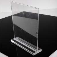 Buy cheap Fashion Vertical A4 Size Clear Acrylic Stand Up Sign Holder Portrait Removable Solid Base from wholesalers