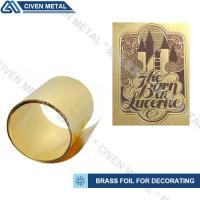 Buy cheap High-precision brass foil with wide width:1.0~650mm/applied to lamination, heating foils, etch etc. from wholesalers