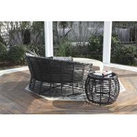 Buy cheap Poly rattan wicker outdoor lounge chaise sofa chair sets from wholesalers