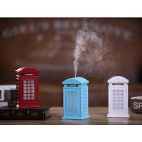 Buy cheap Creative Vintage British Style Phone Booth Humidifier 300ml USB LED Cool Mist Humidifiers from Wholesalers