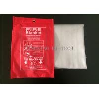 550℃ Emergency Fiberglass Fire Blanket PU Coated Heat Resistant 0.4 - 3.0mm Thick
