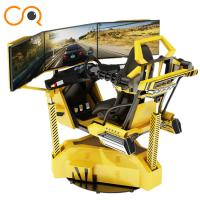 Buy cheap Realistic Crazy Car VR Racing Simulator With Electric Cylinder System from Wholesalers