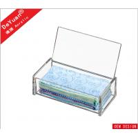 Buy cheap Rectangle Tissue Acrylic Holder Stand With Slip - Open Cover from wholesalers