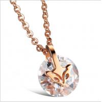 Buy cheap Drjobson Jewelry rose gold titanium steel necklace-N01 from Wholesalers