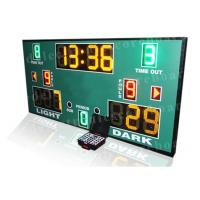 Quality 3 Colors LED Basketball Scoreboard With Wireless PC Software Controller wholesale