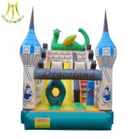 Buy cheap Hansel stockamusement park equipment kids soft play area inflatable bouncer castle factory from Wholesalers
