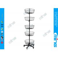 Buy cheap Ajustable 5 Layers Metal Wire Display Stands 5 Levels Black Wire Basket from Wholesalers