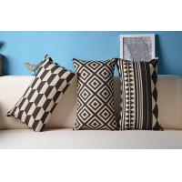 Quality Ikea Nordic geometric vector cushion,black and white cotton line cushion wholesale