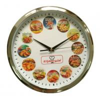 China Food Printing Dial Customized Round Restaurant Wall Clock for AL Kabeer in Thailand on sale