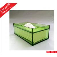 Buy cheap Green Rectangle Facial Tissue Box , Acrylic Holder Display For Household from wholesalers