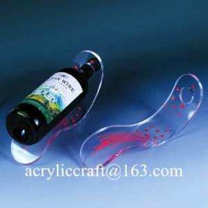 Buy cheap Tùy 5mm rõ ràng Bảng Top Acrylic Độc Slant Rượu Chai Display Đứng from wholesalers