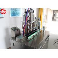 Buy cheap Semi Automatic Bag On Valve Aerosol Filling Machine for Cosmetic Spray / Water Spray from wholesalers