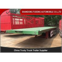 Buy cheap 3 Axles 40 Ft 20 Ft Flatbed Trailer 70 Tons Payload Optional With 12R22.5 Tires from Wholesalers
