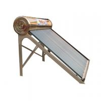 compact heat pipe solar water heater with copper coil in water tank