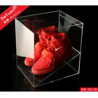 Buy cheap PMMA Display Stroage Transparent Shoe Boxes Red 26 x 26 x 26cm from Wholesalers