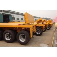 Buy cheap 3 axle skeleton container transport trailer 40/45ft chassis or flatbed private customized from wholesalers