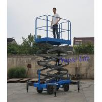 Buy cheap 6m Platform Height High strength manganese steel mobile scissor lift of 450kg Loading Capacity from wholesalers
