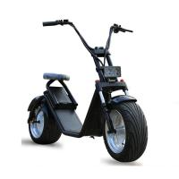 Quality 18*9.5 Inch 1200W Harley Fat Tires 2 Wheel Electric Scooter , Citycoco electric 2 wheel scooter wholesale