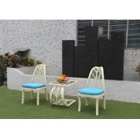 Buy cheap Glass Top Rattan Table And Chairs Set , European Country Design from wholesalers