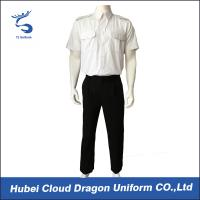 Quality OEM ODM White Security Guard Clothing Adjustable Cuff ​With Embroidered / Printed Logo for sale