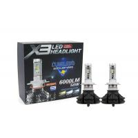 Buy cheap Phi - Zes X3 LED Headlight 25W 3000LM X3 H7 Bulbs With Temperature Color Paper from wholesalers