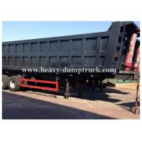 Buy cheap 3 axles side dumper trailer / hydraulic tipper trailer in Algeria 100 tons Capacity from Wholesalers
