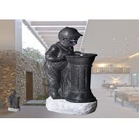 Buy cheap Boy And Girl With LED Light Fountain Indoor And Outdoor Polyresin Material Garden Decoration  Water Fountain from wholesalers