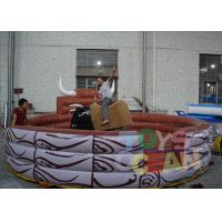 China DIA 5M Mechanical Bull Rodeo Simulator Inflatable Games Lead Free on sale
