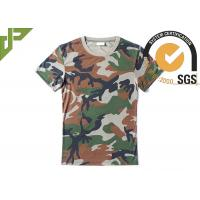 Cheap Woodland Army Military Police T Shirts With 100%Polyester Bamboo Material for sale