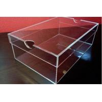 China clear acrylic shoe packing box on sale