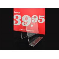 Quality Custom Clear Acrylic Sign Holder , Acrylic Menu Poster Holders For Display wholesale