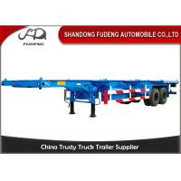 China Two Axle 8 Tires 30 Ton 40 Feet Chassis Container Trailer Skeletal Semi Trailer on sale