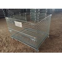 Buy cheap Multi Color Metal Pallet Cage , Galvanized Spray Wire Mesh Pallet Cages For Storage from Wholesalers