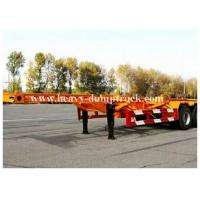 Buy cheap 3 Axles 20 / 40foot flatbed trailer / skeletal trailer with 12 pcs container twist , flatbed truck trailers from Wholesalers