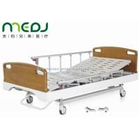 Buy cheap Critical Care Manual Hospital Bed , Wood Foldable Hospital Bed With Central Brakes from Wholesalers