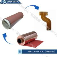 Buy cheap RA COPPER FOIL--TREATED/USED FOR FPC/FCCL/THINCKNESS:12/18/25/35/50UM from Wholesalers