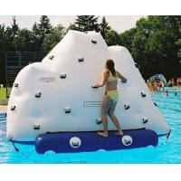 Quality Inflatable Climbing Wall With Water Slide, Inflatable Water Floating Iceberg wholesale