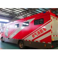 China Gross Weight 100000kg Fire Rescue Vehicles , 4HK1-TC Chassis Engine Industrial Fire Truck on sale