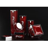 The bottle is red with a square bottle Material PMMA Empty Makeup Containers