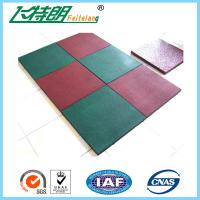 Quality Outdoor Kindergarten Playground Rubber Flooring tiles of  50×50× 2.5 cm wholesale
