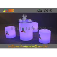 Buy cheap Nontoxic and peculiar smell LED round bar stool , LED Cube Chair from Wholesalers