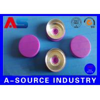 Buy cheap Light Purple Color 20 mm Flip Off Cap with Aluminum Plastic Material ISO 9001 from wholesalers