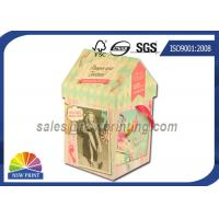Buy cheap Personalized House Shaped Rigid Decorative Paper Boxes Presentation Box With Ribbon from Wholesalers