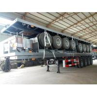 Buy cheap 4 Axles 70 Ton 40ft 45ft Flatbed Container Delivery Semi Truck Trailer , Transportation Trailer from Wholesalers