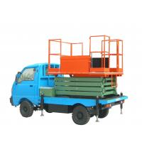 Buy cheap Battery Powered Vehicle mounted scissor lift , aerial lifting platform from wholesalers