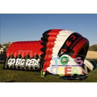 Buy cheap Red Inflatable Sport Tunnel With Helmet Tent For Event Sport Customize Design from Wholesalers