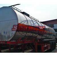 Buy cheap Insulated Steel Cooking Oil Tank Trailer , 55 000 Liter Tri Axle Tanker Trailer from Wholesalers