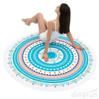 Buy cheap Round Beach Towel Beach Blanket Large Microfiber Towels Yoga Mat Multi Purpose from Wholesalers