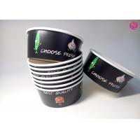 Buy cheap 32oz Black Background Paper Salad Bowls Eco Friendly take out salad containers 44oz from wholesalers